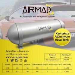 Kaynaksız Alüminyum Hava Tankı 12 LT